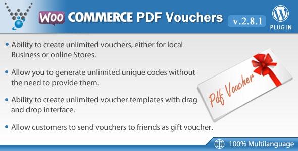 WooCommerce PDF Vouchers v3.1.7 – WordPress Plugin
