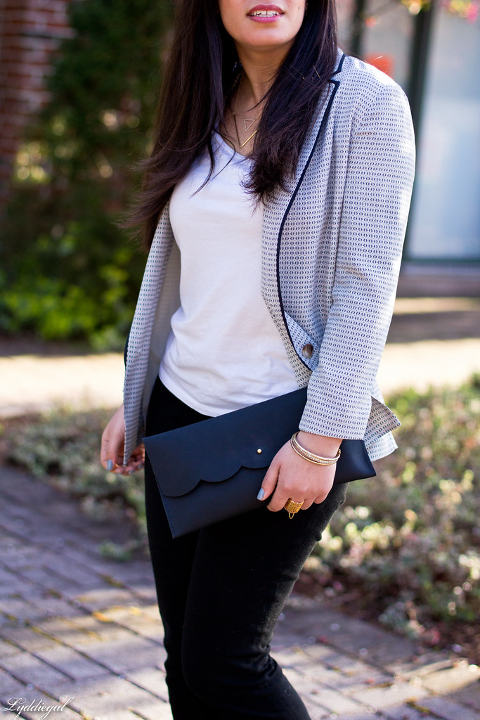 silk blazer, black pants, loafer pumps, scalloped clutch-8.jpg