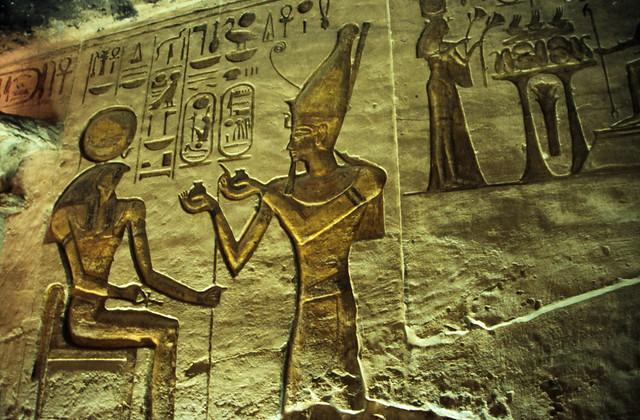 Ägypten 1999 (120) Assuan: Im Großen Tempel, Abu Simbel