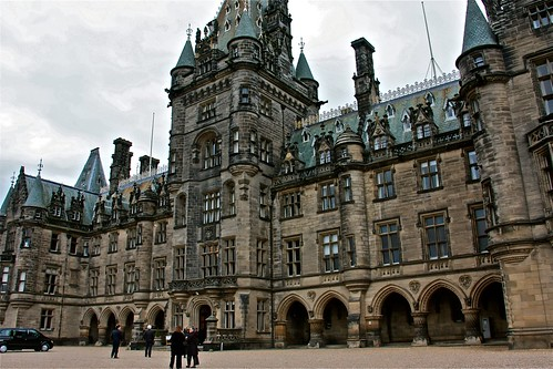 The wedding took place at Fettes College a preparatory school