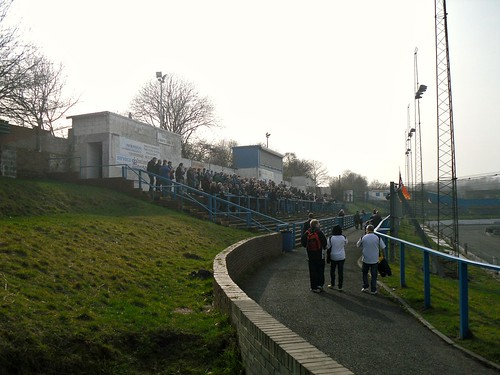 South terracing from east, Central Park, Cowdenbeath