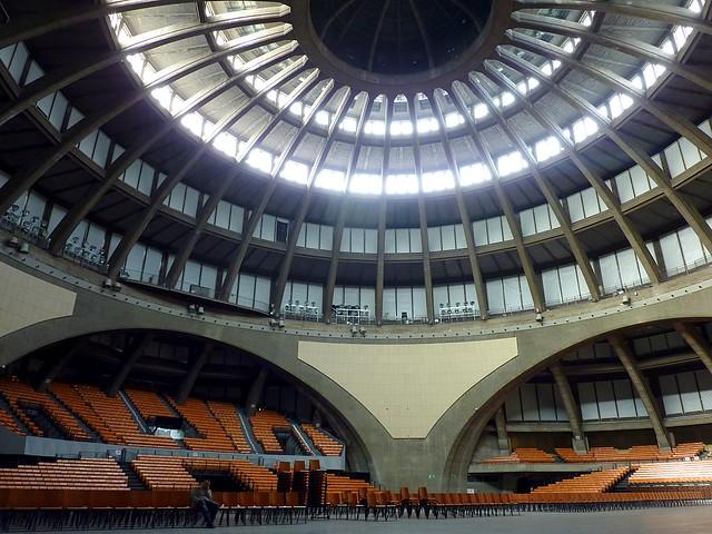 Interior of the Centennial Hall (Hala Stulecia) in Wroclaw, Poland (Unesco world heritage)