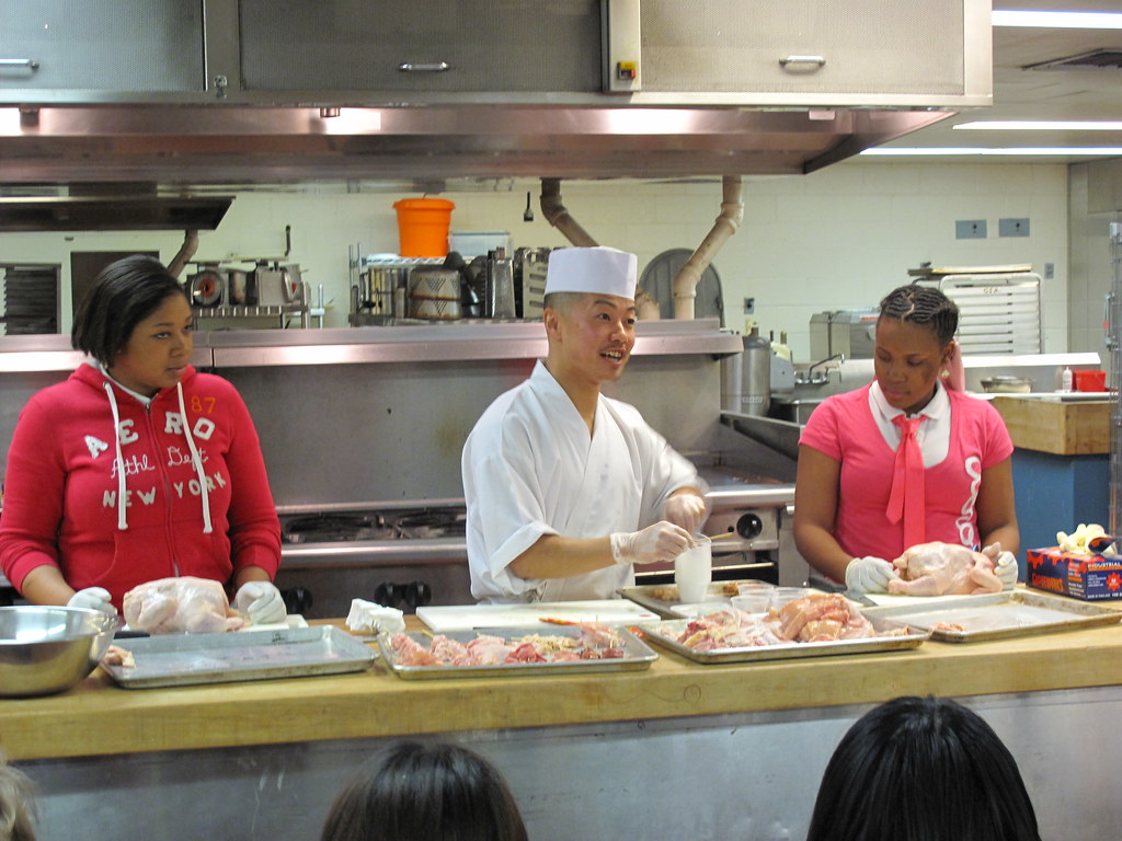 Chef Kono Of Tori Shin At High School Of Food And Finance The