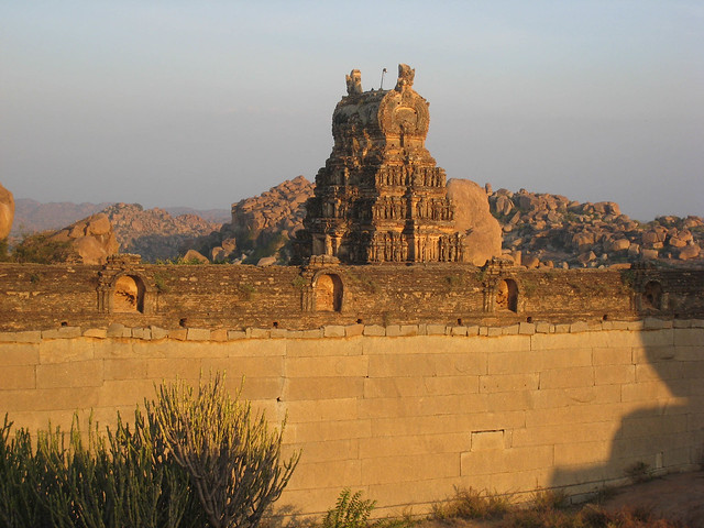 Hampi Temple, Sunset