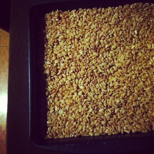 brown butter rice krispies squares