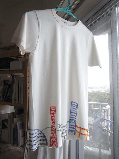 手描きTシャツ 神戸の風景1