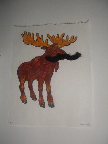 moose w/ moostache