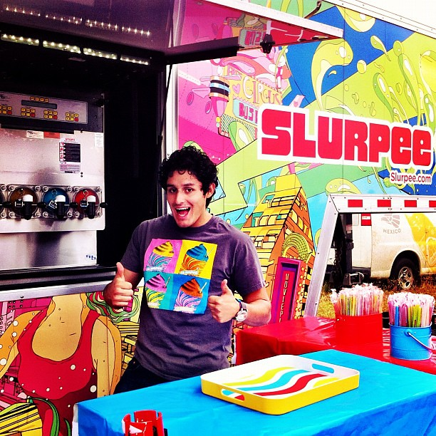 It was like they knew I would be here. A huge Slurpee truck @thecolorrun today! #thecolorrun