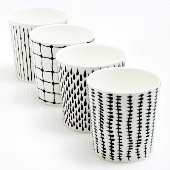 Bono Monochrome Mug Set