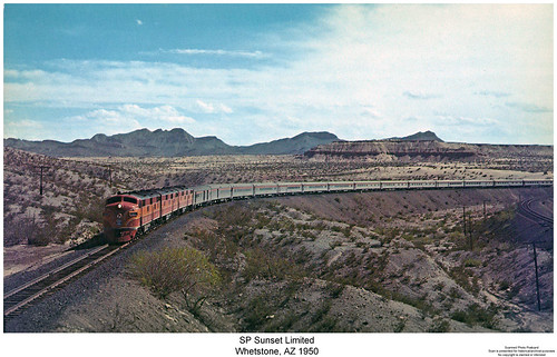 railroad arizona train diesel railway trains sp locomotive trainengine e7 booster coveredwagon southernpacific passengertrain espee emd bunit e7b sunsetlimited aunit e7a whetsone sixaxle boosterunit cabunit cablessbooster