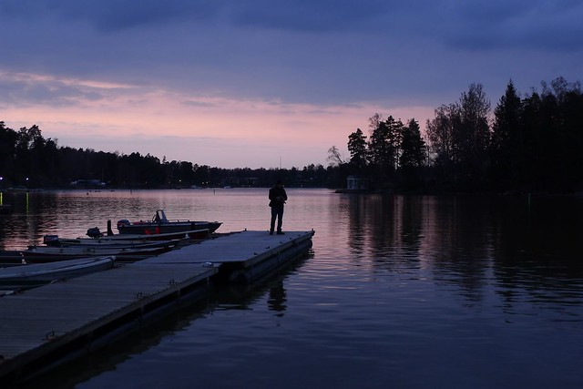 Atardecer en Helsinki durante la primavera