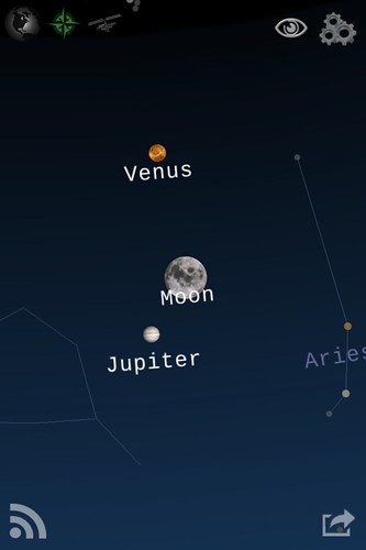 Planets and Moon on Starwalk