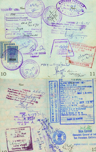 PageofPassportStamps1970s