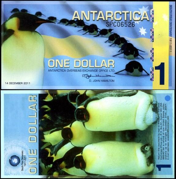 1 Dolár Antarktída 14.2.2011, polymer
