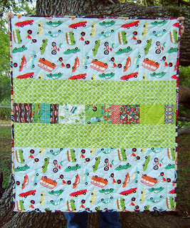 Cars Quilt Back View