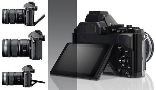 Olympus OM-D E-M5 -- Tilting LCD