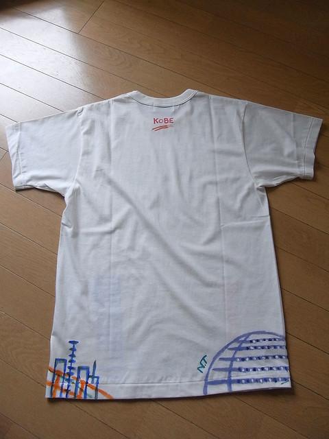 手描きTシャツ 神戸の風景3