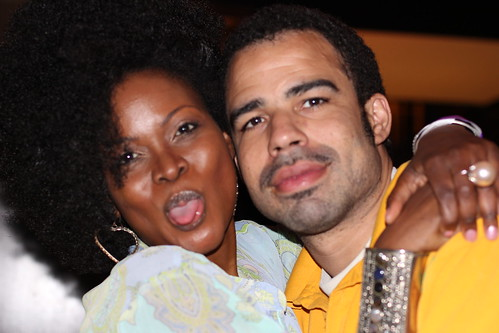 Abiola Abrams & Casey Gane McCalla at Black Enterprise Magazine 40/40 Party