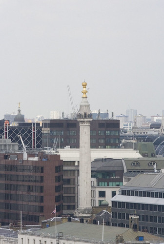 A demolished office block gives this rare obscured view