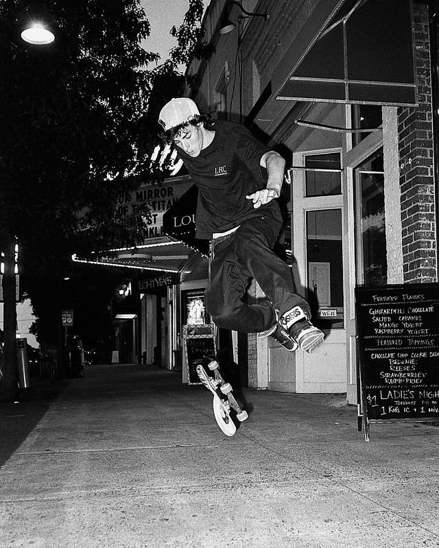 skater on Franklin St.