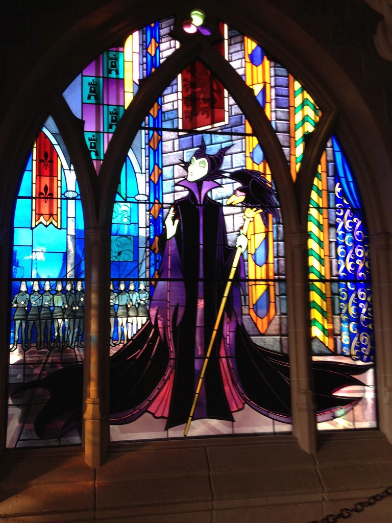 Maleficent Stained Glass Inside The Castle There Are Some