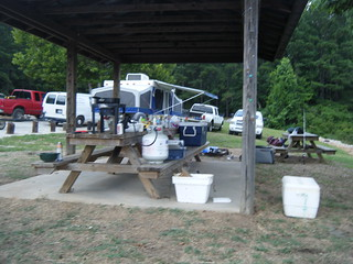 Camping at Cannon Creek Landing