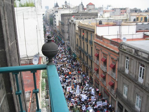 Huge Mexico City Demonstration
