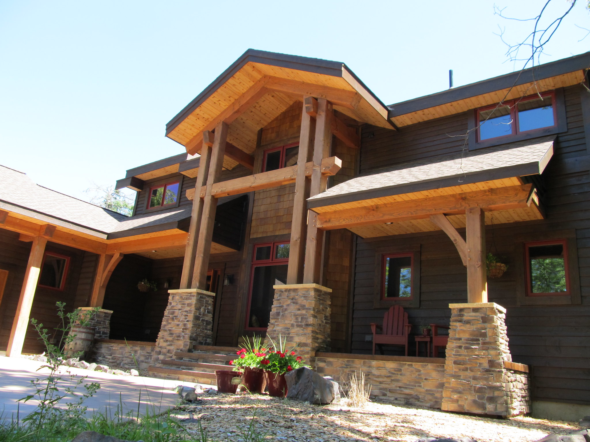 Exterior Timber Frame Homes Gallery Blue Ox Frames
