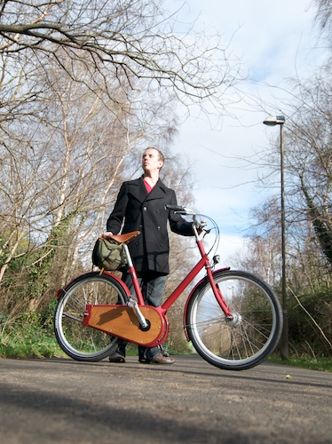 model poses for the Paper Bicycle review