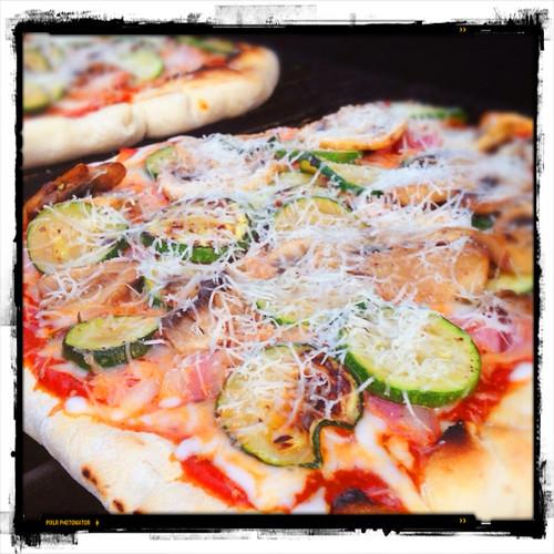Grilled Prosciutto And Zucchini Pizza