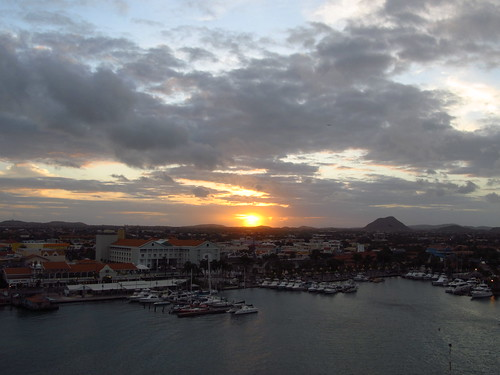 cruise sky clouds sunrise cruising aruba caribbean oranjestad coralprincess princesscruiselines