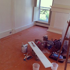 the dirty, messy, this-is-never-going-to-be-done-stage #diy #homeimprovement #painting
