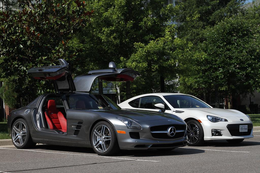BRZ next to a Mercedes SLS AMG - Scion FR-S Forum   Subaru