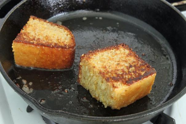 yes i fried leftover cornbread in bacon fat the amateur gourmet. Black Bedroom Furniture Sets. Home Design Ideas