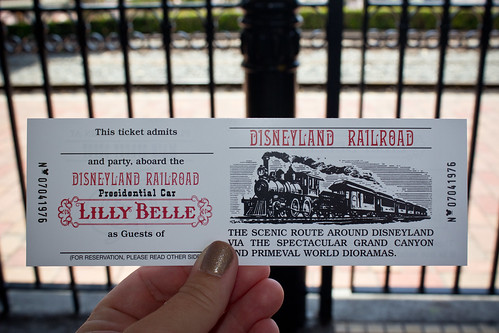 Disneyland Railroad Lilly Belle Ticket