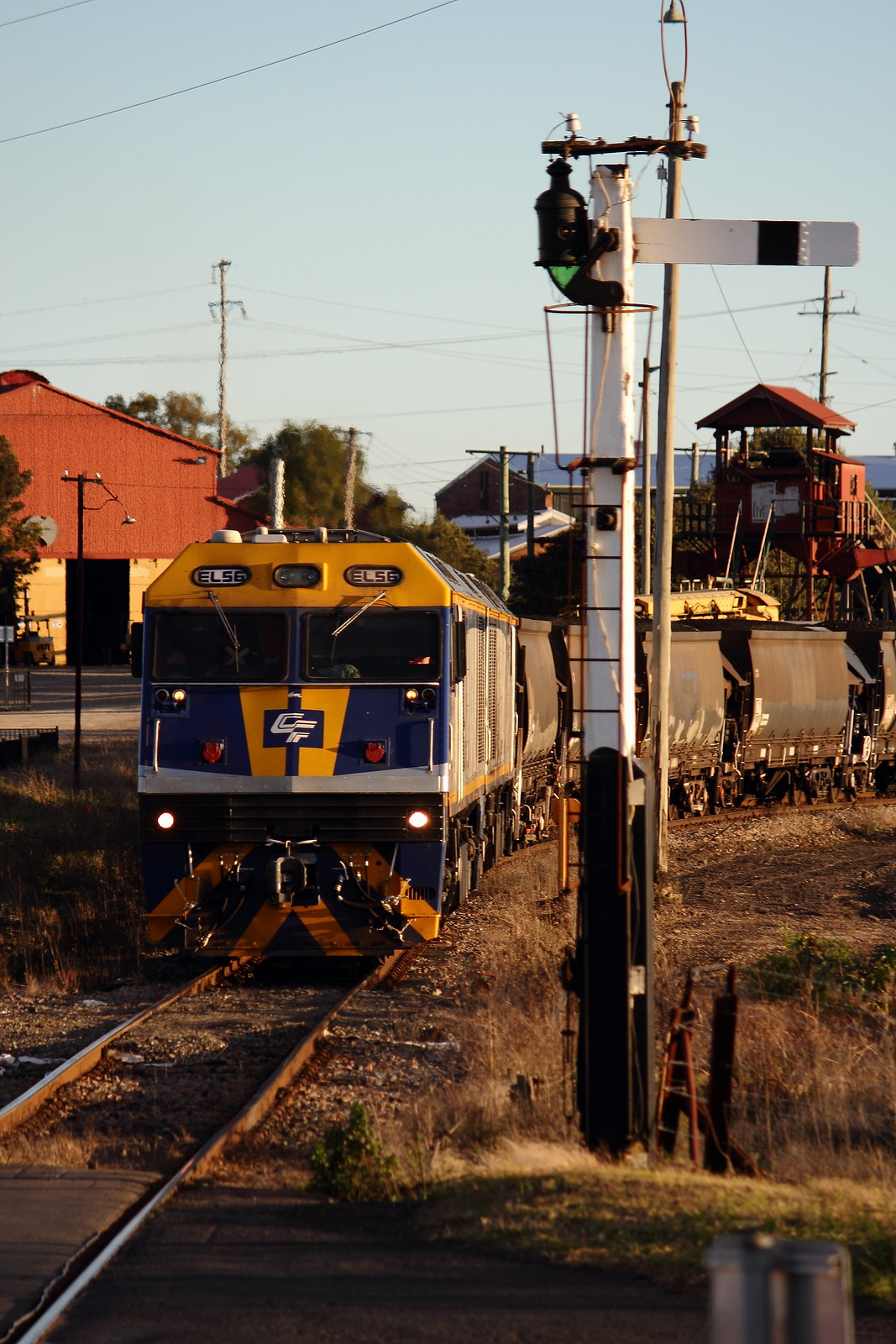 Semaphore Signal and an EL by Benjamin Murch