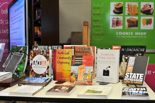 Sample of books to be seen at the new American Center