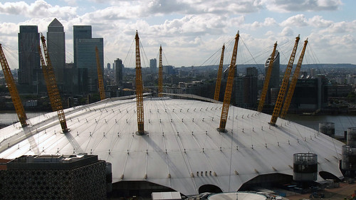 London's North Greenwich Centre, aka The O2 Arena, will be a Games venue, and now allows visitors to climb its roof