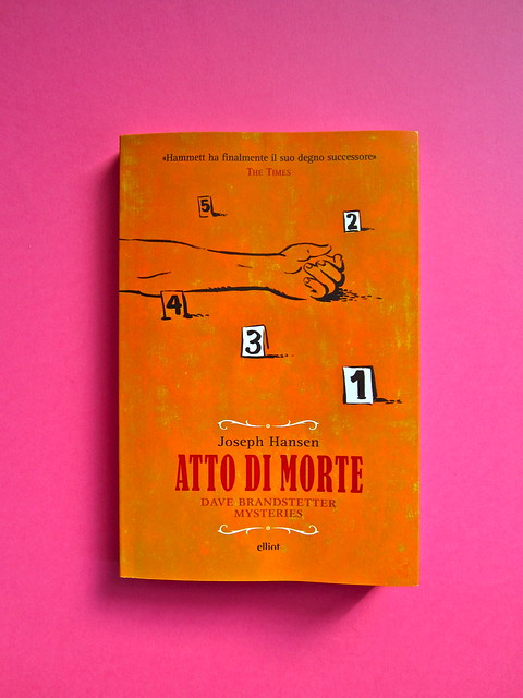 Joseph Hansen, Atto di morte, Elliot 2012. cover design e illustration: IFIX. Copertina (part.), 1