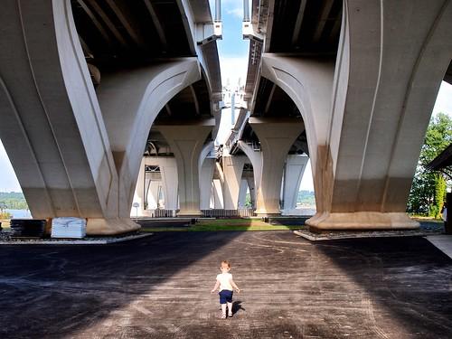 Soleil Explores the Underside of the Woodrow Wilson Bridge