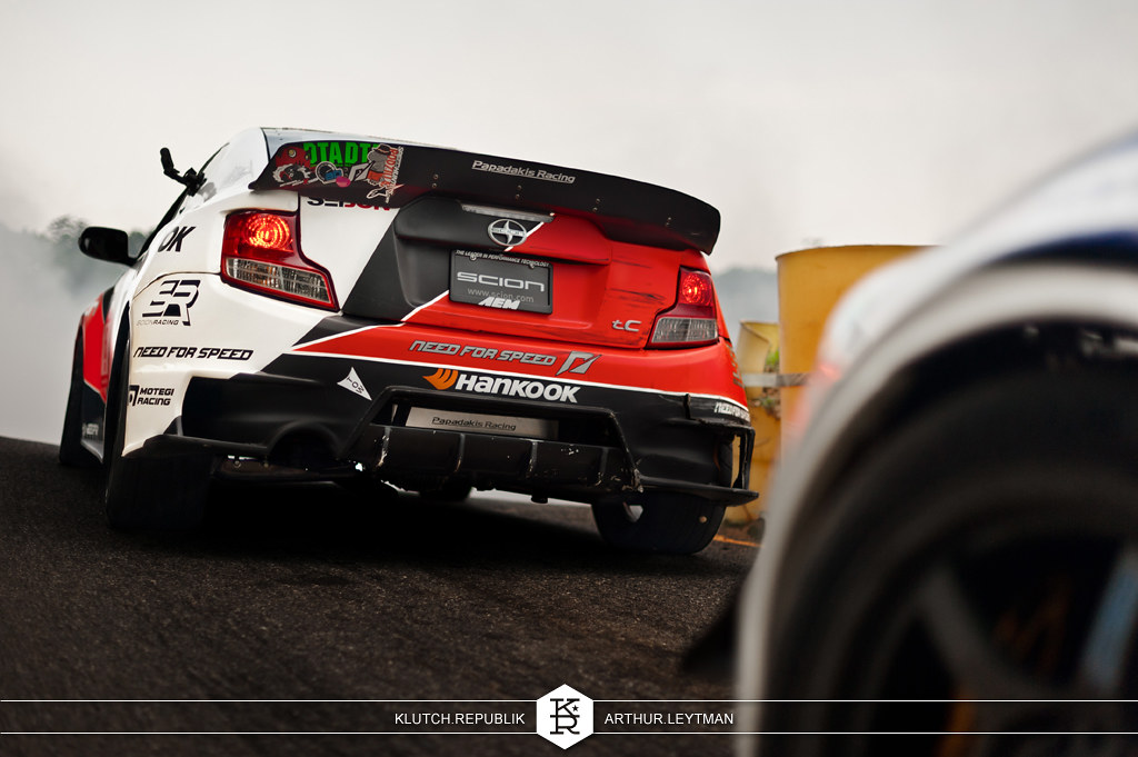 need for speed hankook scion tc red white black drifting at formula drift the wall new jersey 3pc wheels static airride low slammed coilovers stance stanced hellaflush poke tuck negative postive camber fitment fitted tire stretch laid out hard parked seen on klutch republik