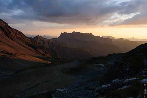 mountain france montagne sunsetsunrise rhônealpes levercoucherdesoleil hautgiffreaiguillesrouges