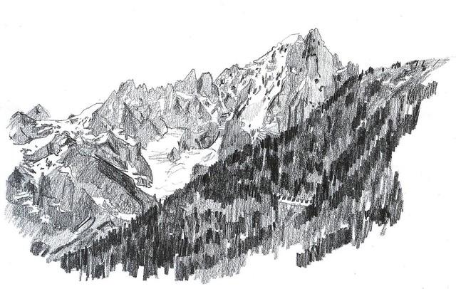 berg från byn