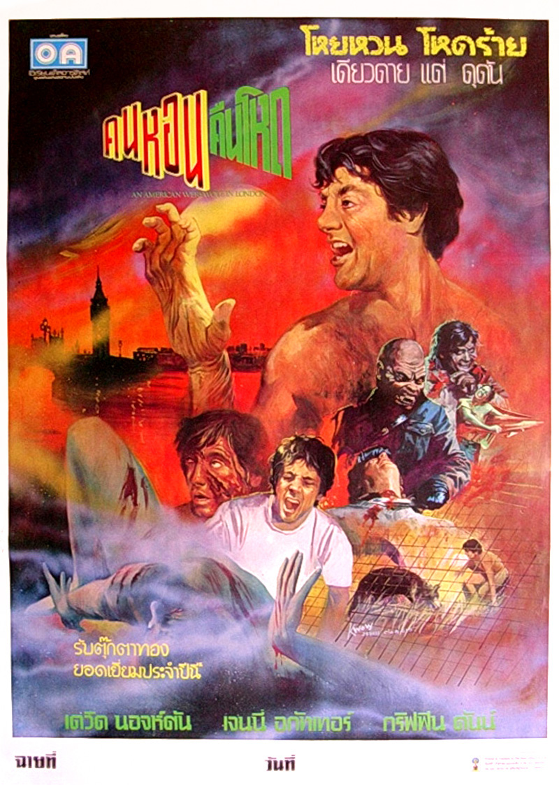 An American Werewolf In London, 1981 (Thai Film Poster)
