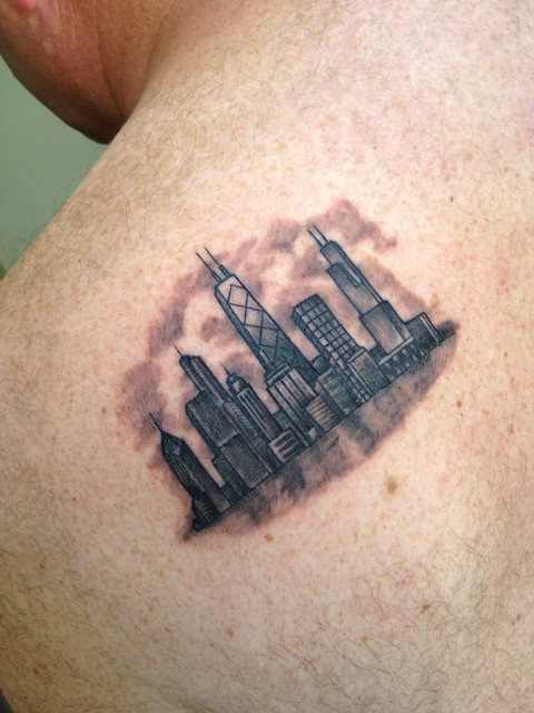 La ink chicago skyline tattoo by melissa khouri of high for Chicago ink tattoo