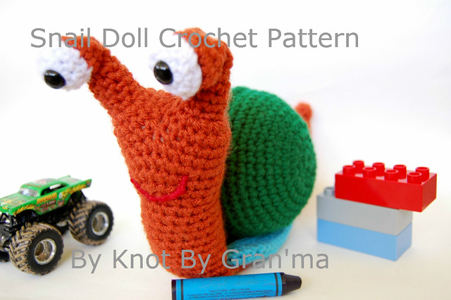 Crochet Snail Doll Pattern by Knot By Gran'ma