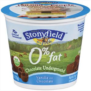 Stonyfield Non-Fat Chocolate Underground Yogurt