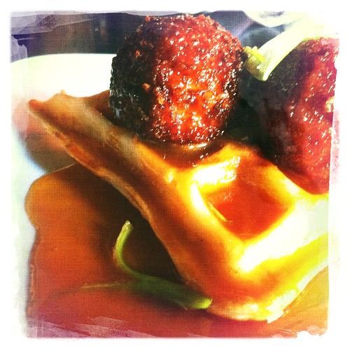 Chicken Croquettes w Waffle