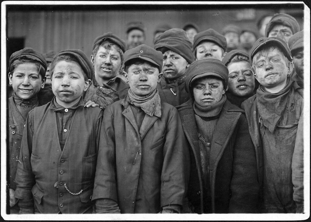 Child Labor: Breaker Boys, Pittston, PA, USA, 1911.
