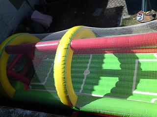 Cancha de soccer inflable con piso